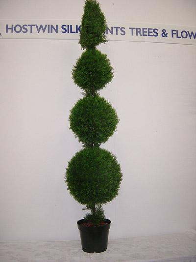 7′ Pond Cypress Triple Ball & Cone Tree