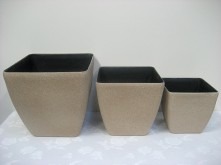 Set/3 Square Pot