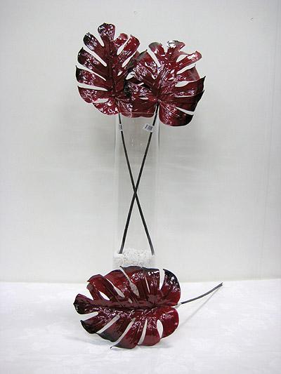 """29"""" Porcelain Monstera Leaf"""