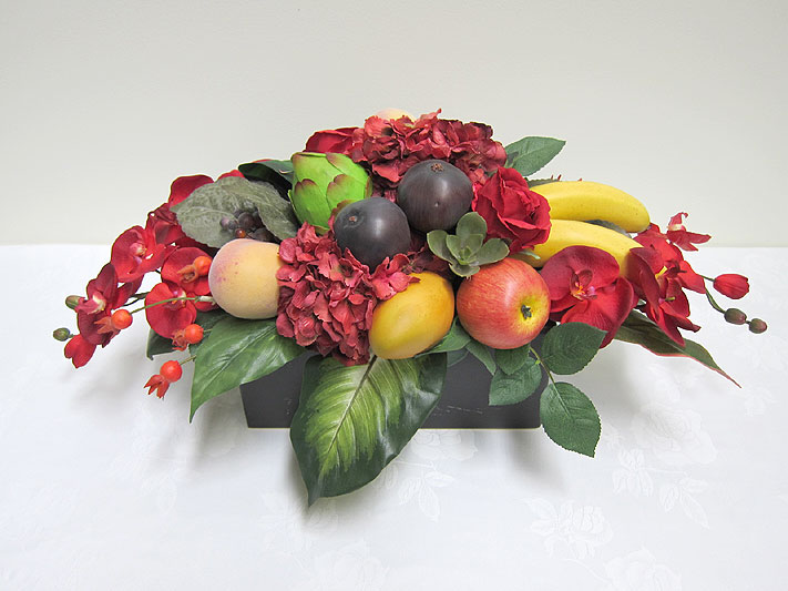 Long low fruit arrangement hostwin Floral arrangements with fruit
