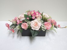 Lg. Roses & Orchids (Pink)