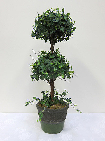 30&#8221; Mini Ivy Double Ball Topiary in Terracotta Pot