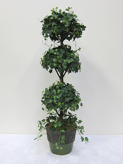 36&#8221; Mini Ivy Triple Ball Topiary in Terracotta Pot