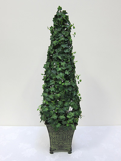 30&#8221; Mini Ivy Cone Topiary in Tin Pot