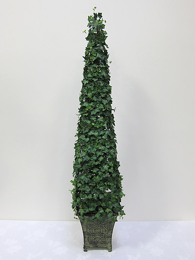 48&#8221; Mini Ivy Cone Topiary in Tin Pot