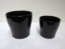Set/2 Round Tapered Pot