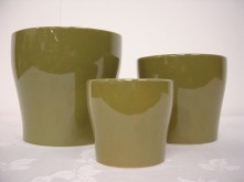 Set/3 Round Tapered Pot