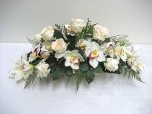 Rose & Orchid Long Low Arrangement
