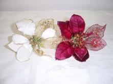 Lg. Glitter Poinsettia Pick