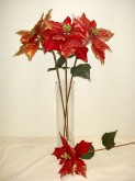 Metallic/Sheer Poinsettia Stem