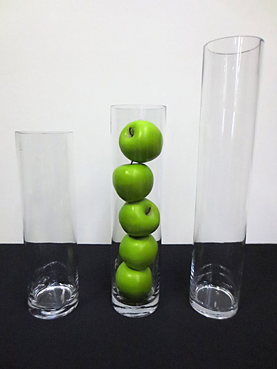 Slim Cylinder Glass Vase