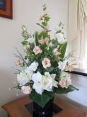 Lisianthus & Amaryllis (Pink/White)