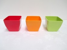 Square Tapered Plastic Pot