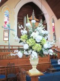 Rose & Hydrangea Centerpiece Arrangement