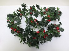 6′ Holly Berry Garland
