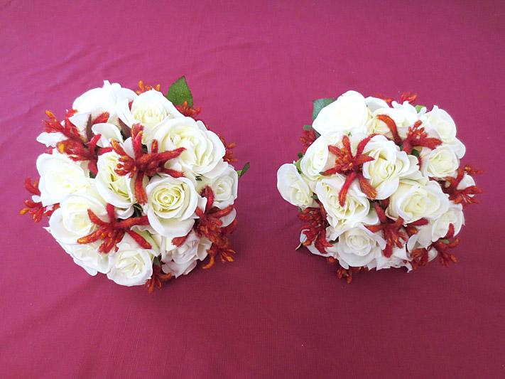 Native Rose & Kangaroo Paw Set – Bridesmaids' Posies