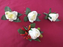 Native Rose & Kangaroo Paw Set – Buttonhole Set
