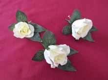 Native Rose & Kangaroo Paw Set – Groomsmen Buttonholes