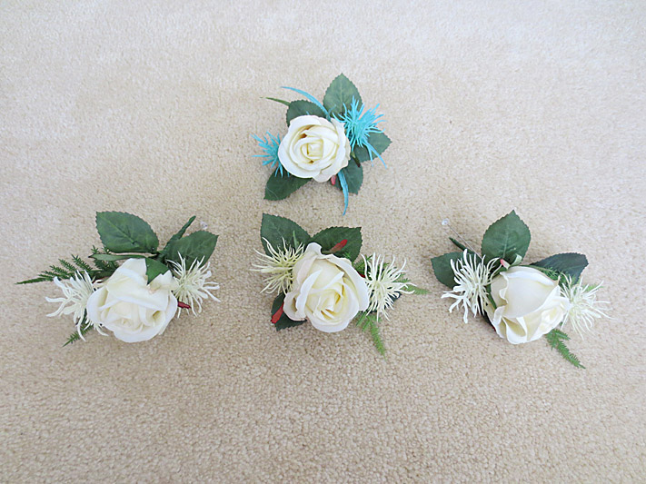 Rose & Cyperus Flower Buttonholes