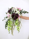 Hydrangea & Delphinium Free-form Bouquet