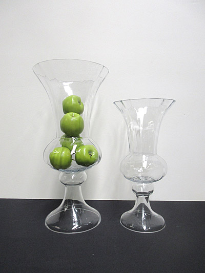 Glass Fluted Vase