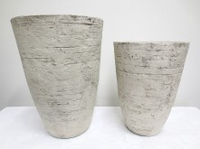 Tall Round Pot (Country White)