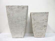 Set/2 Tall Square Tapered Pot