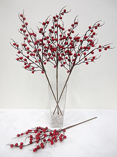 Long Stem Red Berry Spray