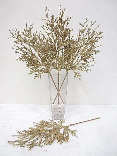 Glitter Cedar Spray (Gold)