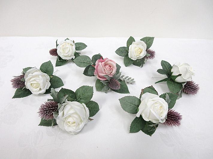 Rose Bud & Thistle Buttonholes