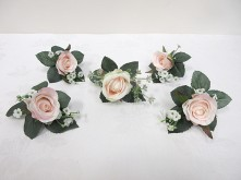 Rose & Baby's Breath Buttonholes