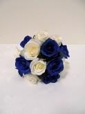 Blue & White Rose Bridesmaid Posy