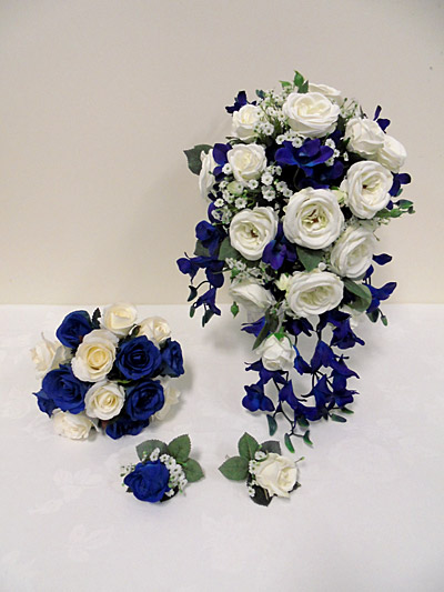 Blue Galaxy Orchid & Rose Set