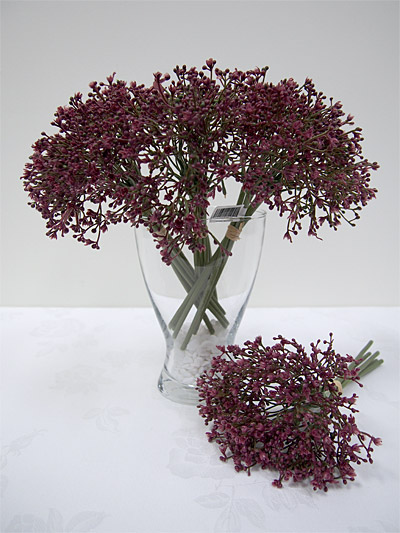 11″ Baby's Breath Bouquet (Purple)