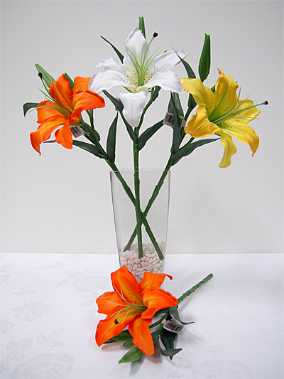 16″ Tiger Lily on Short Stem