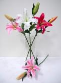 27″ Garden Casablanca Lily Spray